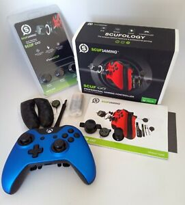 Xbox One Scuf Infinity1 Controller satin blue finish COMPLETE in box with EXTRAs