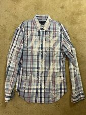 French Connection Button Down Standard Fit Long Sleeve Shirt Mens Size M