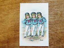 1800s Trade Card Vino Tonico Spanish Medicine Remedy Tonic Sailor Boys Kentucky