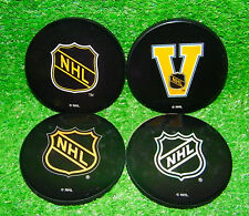 NHL HOCKEY PUCK COASTERS SET (4) OFFICIAL NHL - NEW