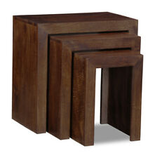 Living Room Furniture Manhattan Solid Mango Chunky Nest of 3 (h9d)