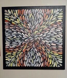 Aboriginal art paintings original 50 x50cm approx bush medicine leaves