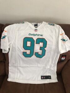 Nike miami dolphins ndamukong suh #93 NFL White Jersey L  mens