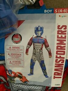 NEW! OPTIMUS PRIME TRANSFORMERS MUSCLE COSTUME BOYS 4-5-6 (SMALL)