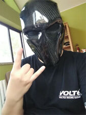 NEW Men carbon fiber black fashion Full face mask Street dance party prom mask