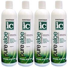4x Fantasia IC Pure NATURAL Aloe Vera Shampoo Replenishes Moisture Damaged Hair