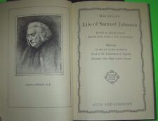 Life Of Samuel Johnson With A Selection From His Essay On Johnson 1928 Hardcover