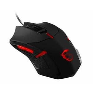 MSI Interceptor Gaming Mouse Black And Red - 1600 dpi movement resolution - USB