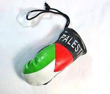 "New Car Hanging Palestine Flag Ornament - Boxing Gloves Palestine: 3"" x 1.5""x 1"""