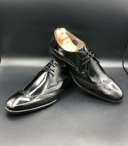 NEW OLIVER SWEENEY Men's Black Buxhall Leather Derby Brogue Shoes UK 10 EU 44