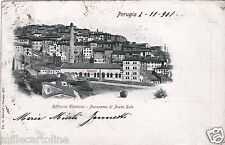 # PERUGIA: OFFICINA ELETTRICA - PANORAMA DI PORTA SOLE- 1901