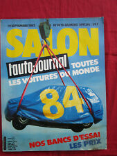 L'AUTO-JOURNAL  N° SPECIAL SALON  Septembre 1983  modéle 84