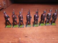 Vintage Britains 8 Prussians Marching at the Slope RARE DEPOSE