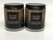 x2 Bath & Body Works Into The Night Single Wick Candles