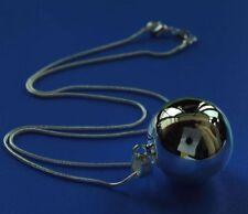 Calidad Nueva Plata C925 Lucky Wish Bola mala armonía Bell Collar Colgante Venta