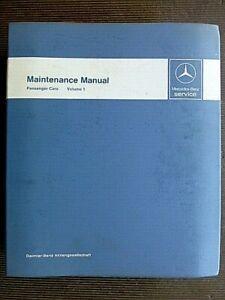 "MERCEDES-BENZ "" Passenger Cars "" 1968 - 1985 Genuine FACTORY MAINTENANCE MANUAL"