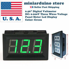 "0.56"" 3 wire DC 4-30V/0-200V GREEN LED digital voltmeter module panel meter"