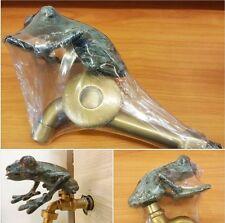 SET Tap Faucet Garden Basin Spigot Big Green Frog Vintage Figurine Home Decor