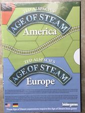 Age Of Steam Board Game America And Europe Expansion Maps