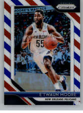 2018-19 Panini Prizm Prizms Red White and Blue #147 E'TWAUN MOORE