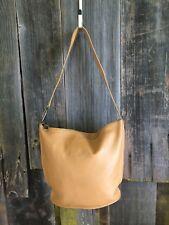 FURLA Vintage Tan Leather Satchel Bag Top Zip Satchel