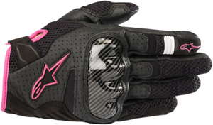 Alpinestars Stella SMX-1 V2 Air Gloves BLACK PINK WHITE
