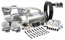 Viair 480C Dual Pewter Compressor Pack w/ 165-200 PSI Switch Air Ride Suspension