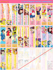 Sailor Moon PP Seal 2 Bookmark Near Complete Regular Seal Set of 21