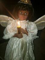 """VTG Telco Motionettes African American Animated Lighted 24"""" Christmas Angel"""