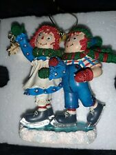 The Danbury Mint 2010 Raggedy Ann And Andy Winter Wonderland Ornament