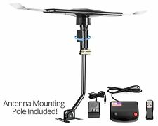 ViewTV 120 Mile Range Amplified Antenna W/ Wireless Remote and Mounting Pole
