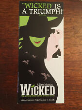 WICKED  Broadway ad/flyer Broadway Oz musical  NYC Megan Hilty Rue McClanahan