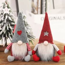 Handmade Christmas Swedish Gnome Santa Sitting Plush Doll Ornaments Xmas Gifts