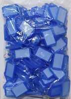100 Schlüsselschilder blau zum beschriften Kofferanhänger Schlüsselanhänger