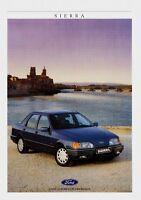 Ford Sierra Prospekt 1988 7/88 Broschüre Autoprospekt brochure broschyr brosjyre
