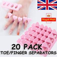 20 PCS Toe Separators Soft Finger Sponge Foam Manicure Pedicure Nails Care Tools