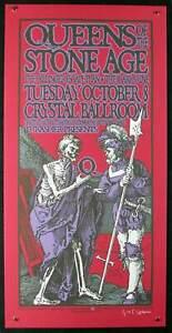 Queens of the Stone Age QOTSA Portland 2002 Original Hand-Signed by Gary Houston