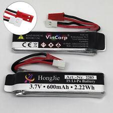 2x Pile  Lipo 600mAh 1s 3,7V JST + Walkera Fiche pour UDI RC U818A 3D OVNI DRONE
