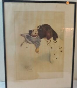 Beautiful Color Print of an Early Watercolor Painting by B. Riad?