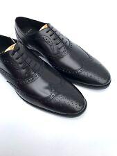 ZARA nero da uomo francesine in pelle scarpe eleganti taglia UK9 eur44 us10