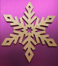 Laser Cut MDF Wood Snowflake - Rustic, Nordic, Christmas, Detailed