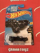 Justice League Batmobile #211 Batman 2018 Hot Wheels Case J