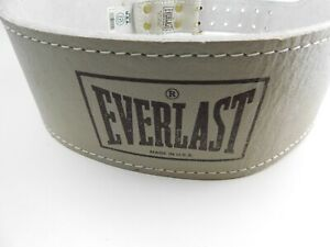 """Vintage Everlast Power Lifting Weight Belt Leather 1012 Large-XL 35""""- 44"""""""