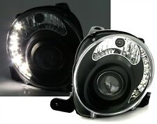 PHARES FEUX AVANT AV DEVIL EYES LED NOIR FIAT 500 LOUNGE POP SPORT DUALOGIC