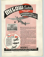 1940  Paper Ad Megow's NY Toy Fair Plane Hawker Hurricane Curtiss Pursuit Bell