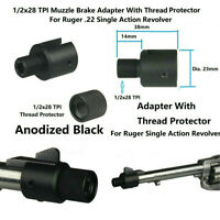 1/2x28 TPI Muzzle Adapter W Thread Protector Ruger .22 Single Action Revolver