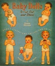 Original Vintage 1945 Baby Dolls Paper Dolls~Uncut~Rare~75 Years Old~Fabulous!
