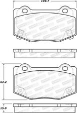 StopTech Disc Brake Pad Set Rear Centric for Cadillac, Chevrolet / 308.17180