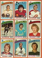 1976-77 Topps Hockey you pick 10 picks $3.00 EX to Mint