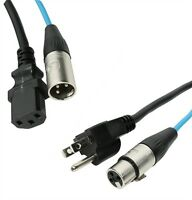 Elite Core 50' Powered Speaker Snake Extension Cable PA50 - XLR and 3 prong AC